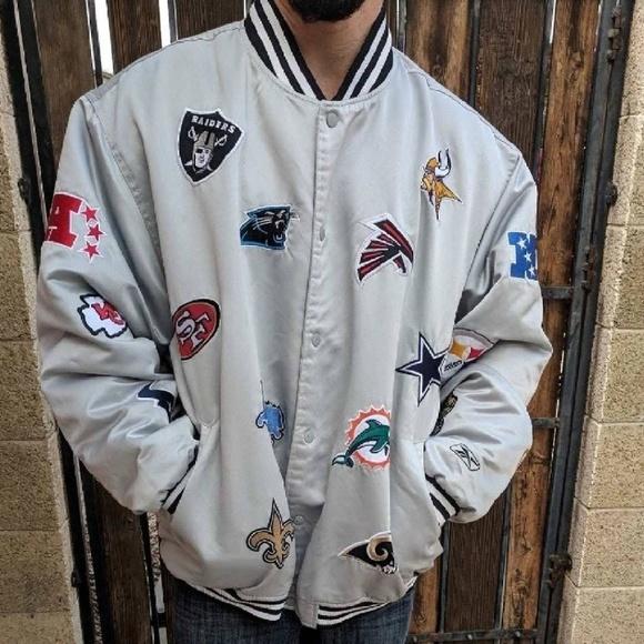 official photos 8ebb0 799b6 Reebok NFL Jacket 32 team logo